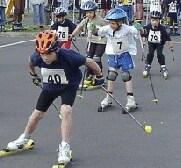 Auch die Jüngsten können schon Rollski laufen, hier beim Liebertwolkwitzer Skiroller- und Inliner-Lauf 2003.